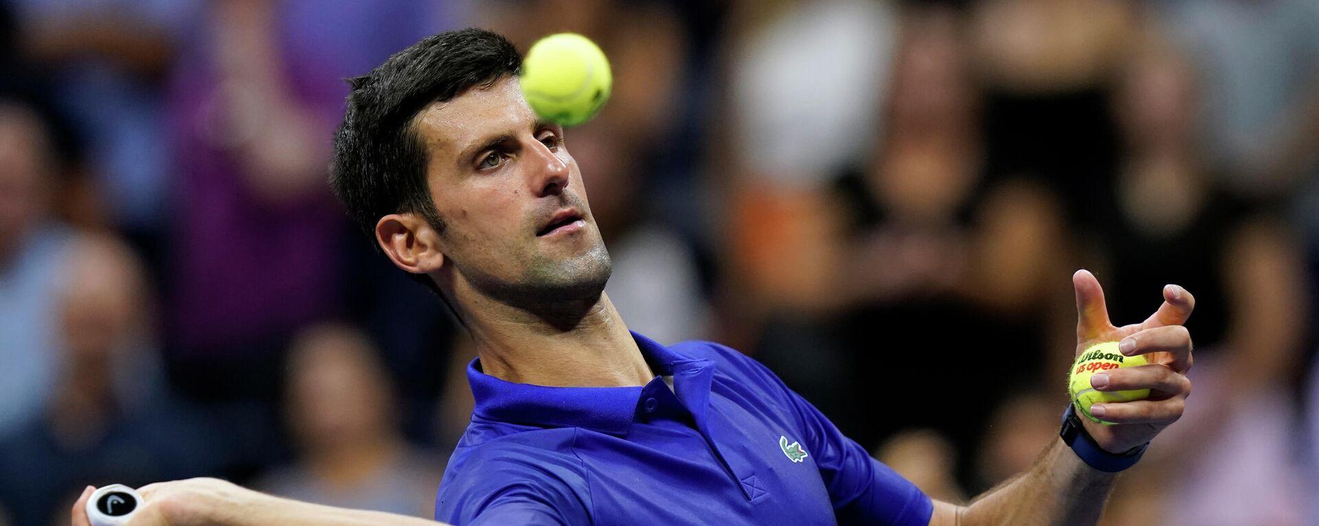 Novak Đoković u prvom kolu US opena 2021. - Sputnik Srbija, 1920, 01.09.2021