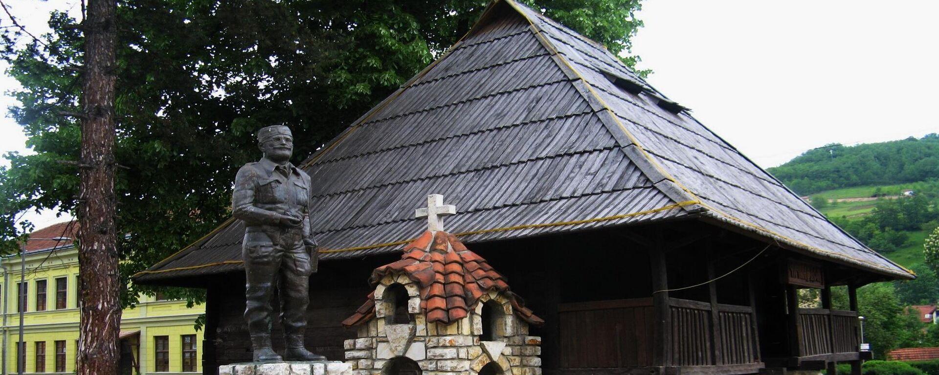 Споменик Дражи Михаиловићу и Дражин дом у Ивањици - Sputnik Србија, 1920, 04.09.2021