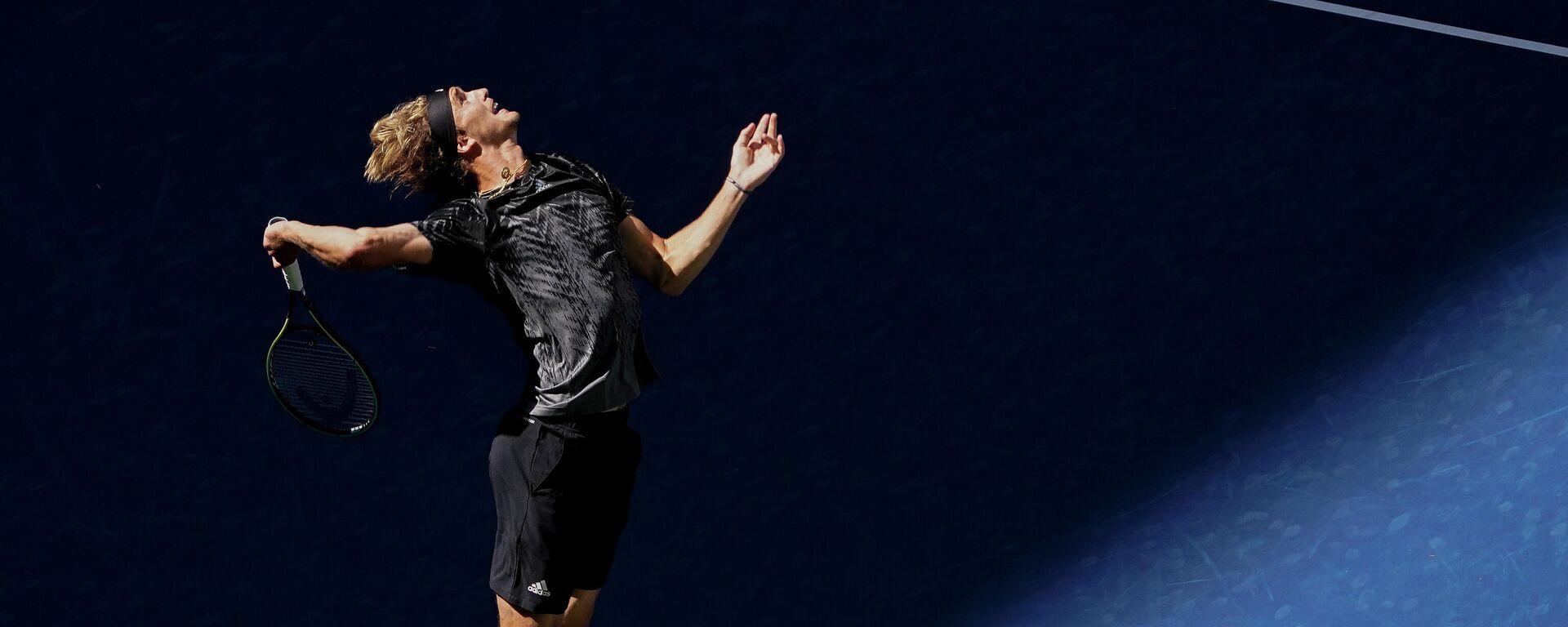 Nemački teniser Aleksander Zverev na US openu 2021. - Sputnik Srbija, 1920, 02.09.2021