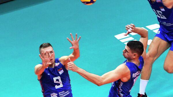 Одбојкаши Србије против Белгије на Европском првенству - Sputnik Србија