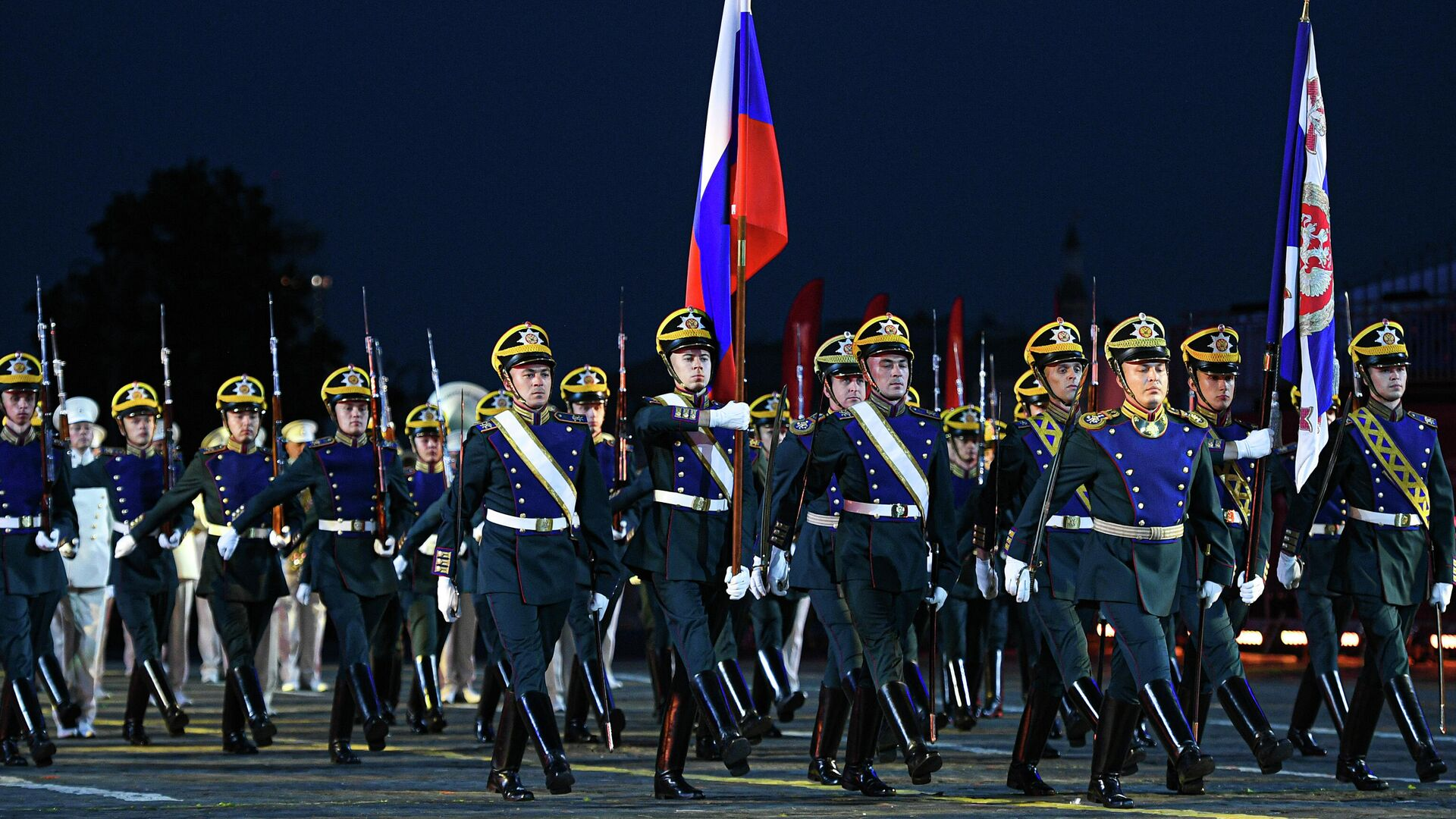 Церемонија отварања Међународног војно-музичког фестивала Спаска кула у Москви  - Sputnik Србија, 1920, 03.09.2021