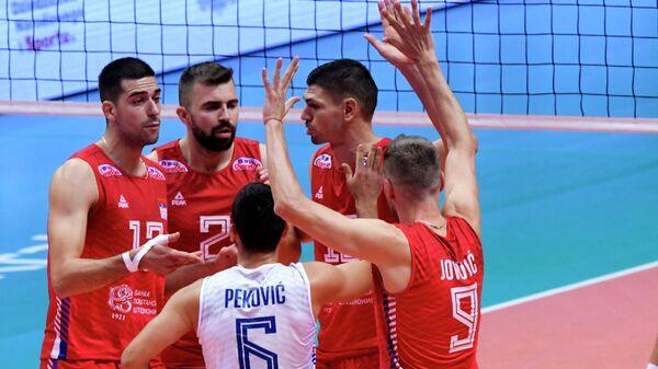 Одбојкаши Србије у мечу против Украјине на Европском првенству - Sputnik Србија