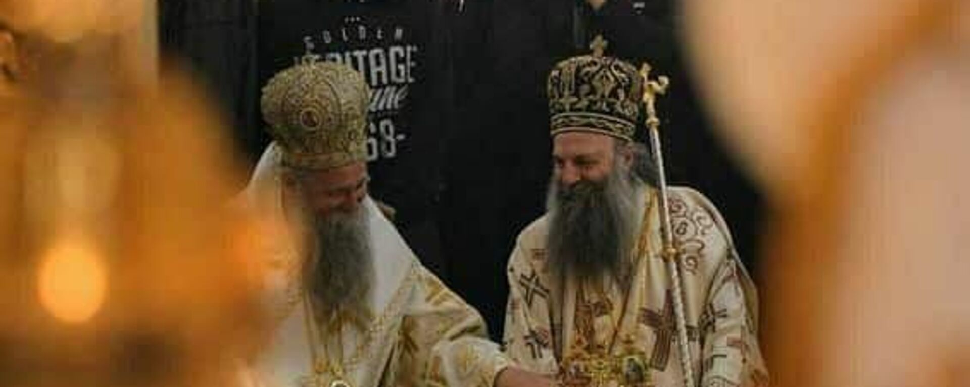 Mitropolit crnogorsko-primorski Joanikije i patrijarh srpski Porfirije u cetinjskom manastiru - Sputnik Srbija, 1920, 05.09.2021