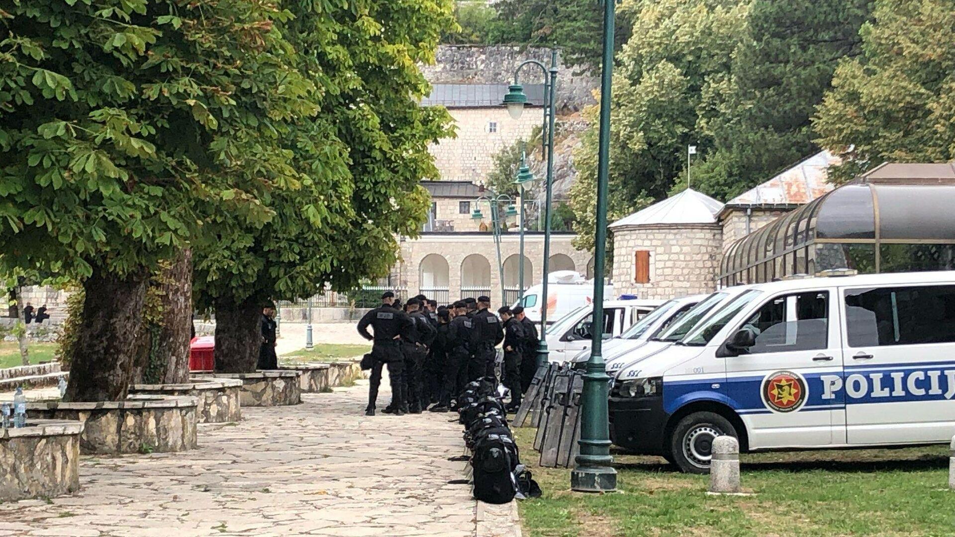 Područje oko cetinjskog manastira nakon što je ceremonija ustoličenja mitropolita Joanikija završena - Sputnik Srbija, 1920, 11.09.2021
