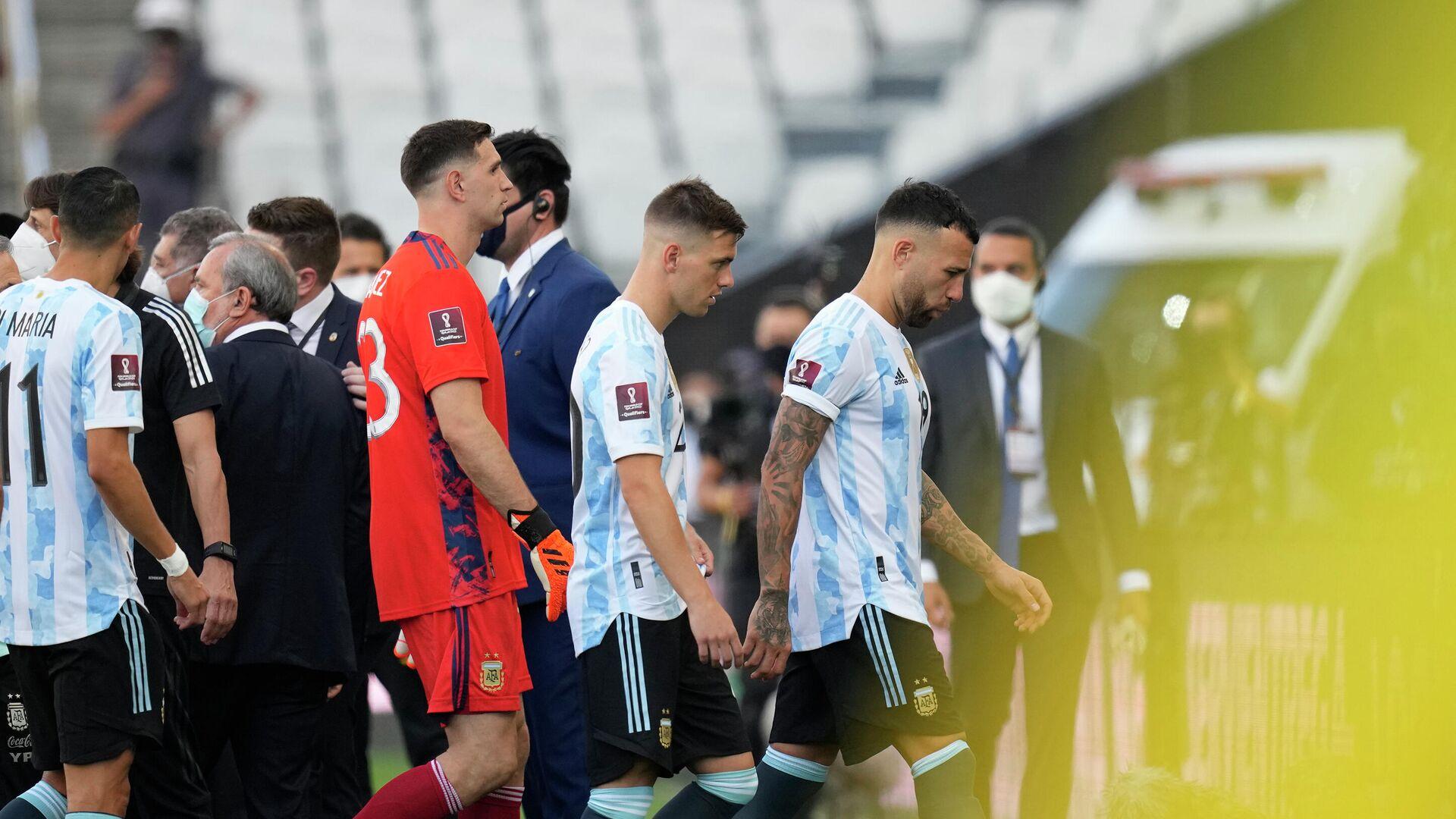 Детаљ са утакмице Аргентина и Бразила - Sputnik Србија, 1920, 05.09.2021