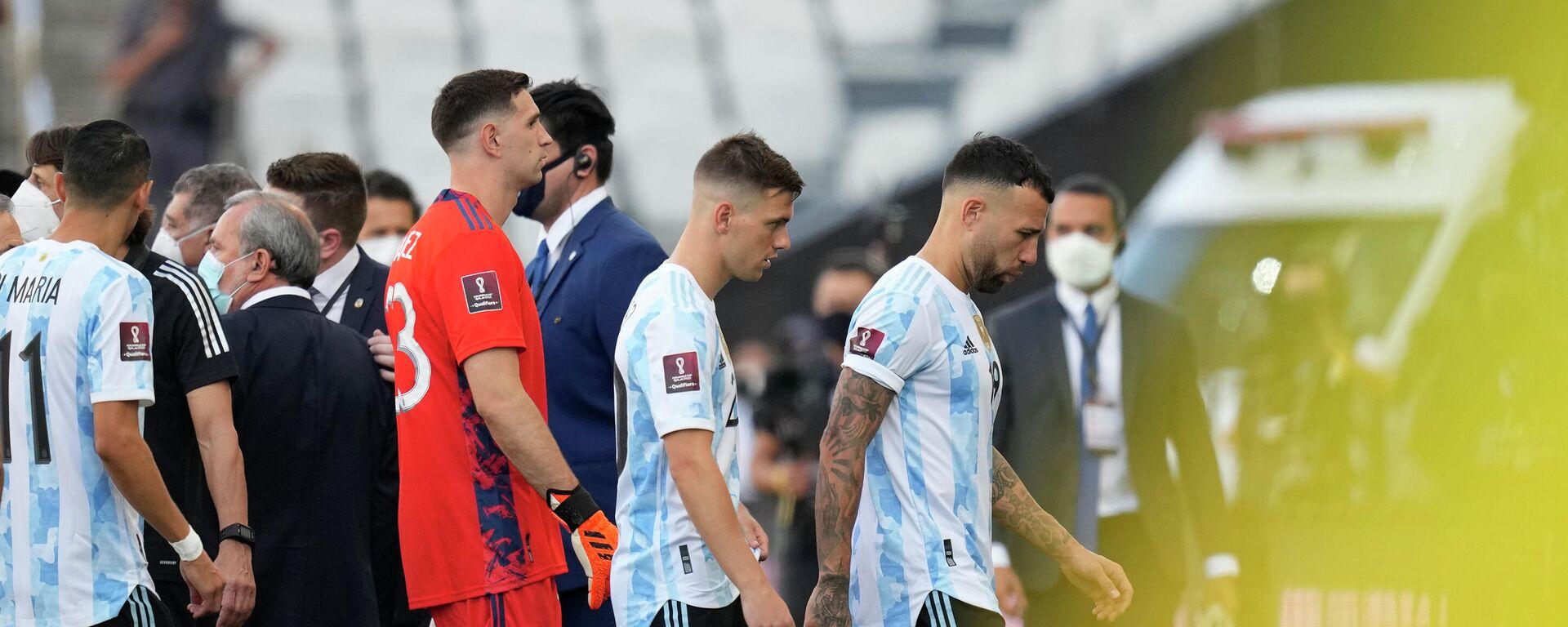 Detalj sa utakmice Argentina i Brazila - Sputnik Srbija, 1920, 05.09.2021