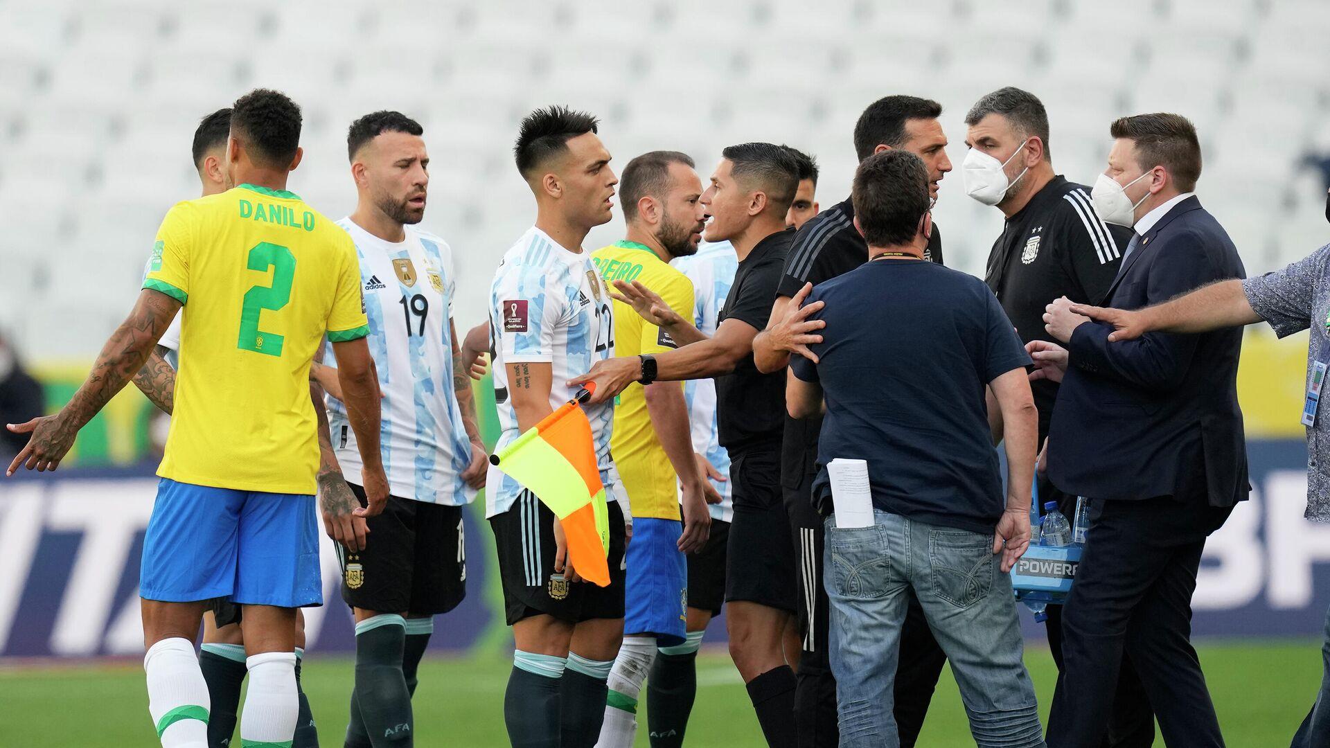 Prekid utakmice Brazil - Argentina - Sputnik Srbija, 1920, 06.09.2021