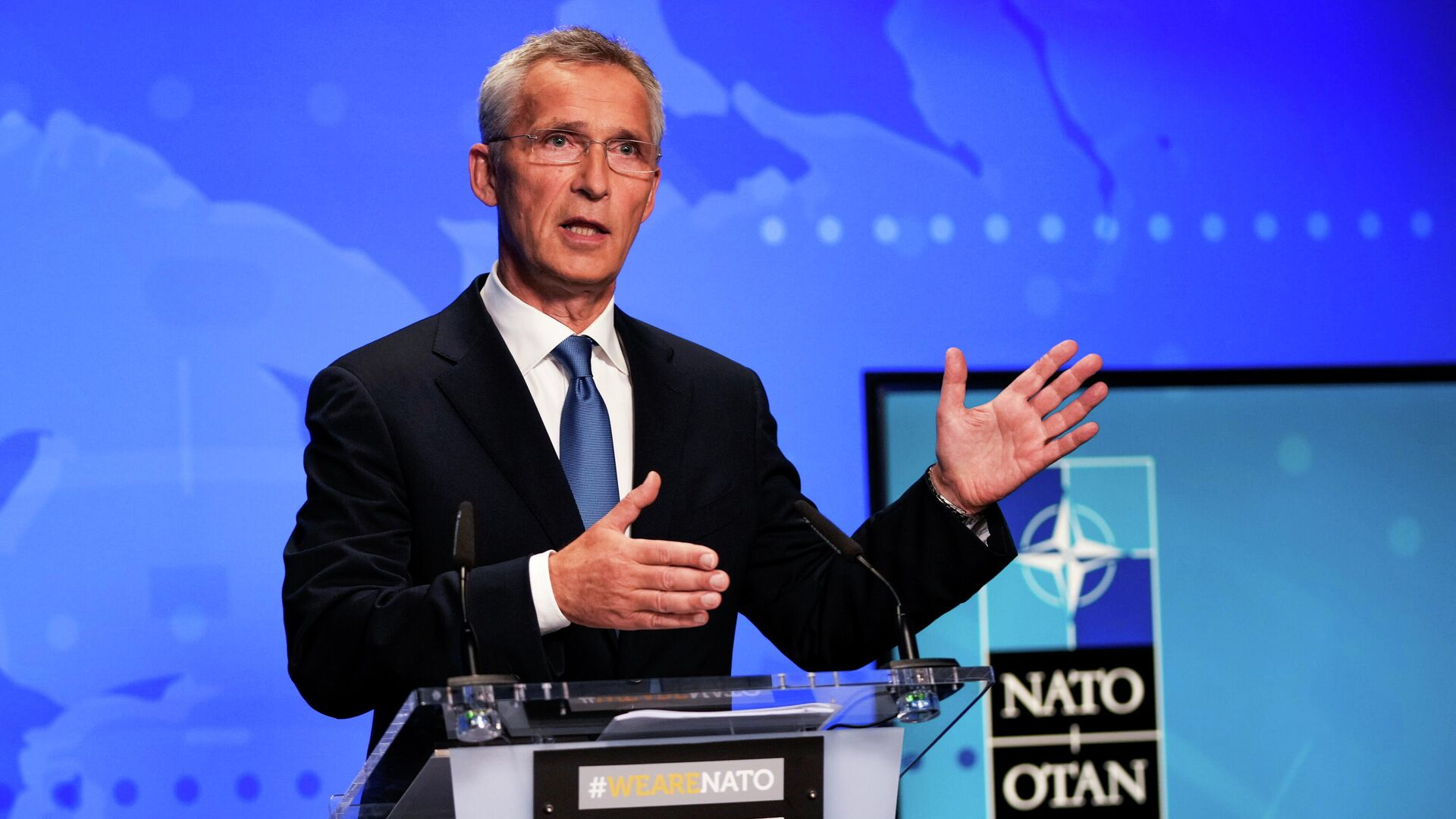 Generalni sekretar NATO-a Jens Stoltenberg - Sputnik Srbija, 1920, 06.09.2021
