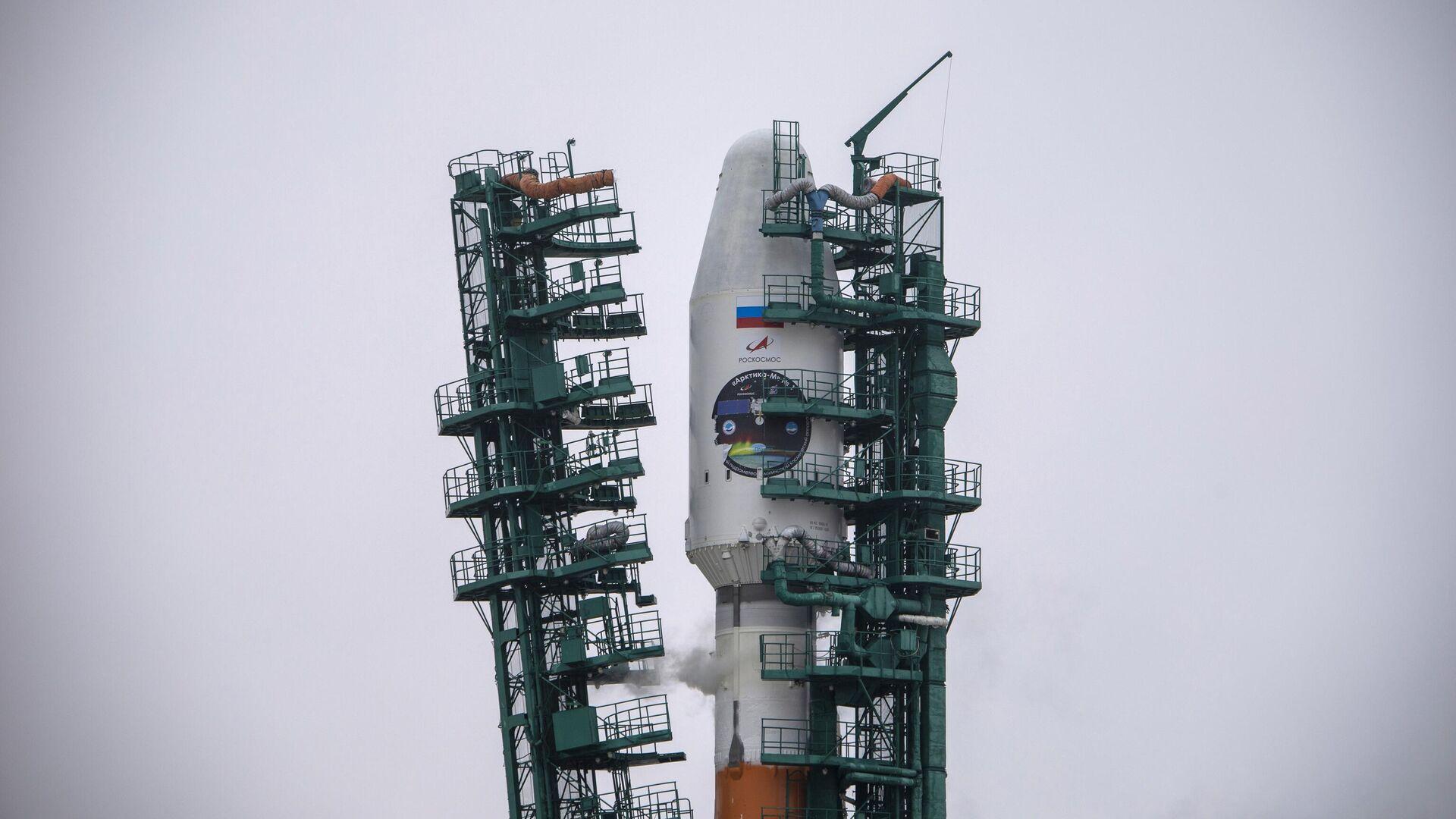 Старт ракете-носача Сојуз 2.1б са космичким апаратом Арктика М - Sputnik Србија, 1920, 06.09.2021