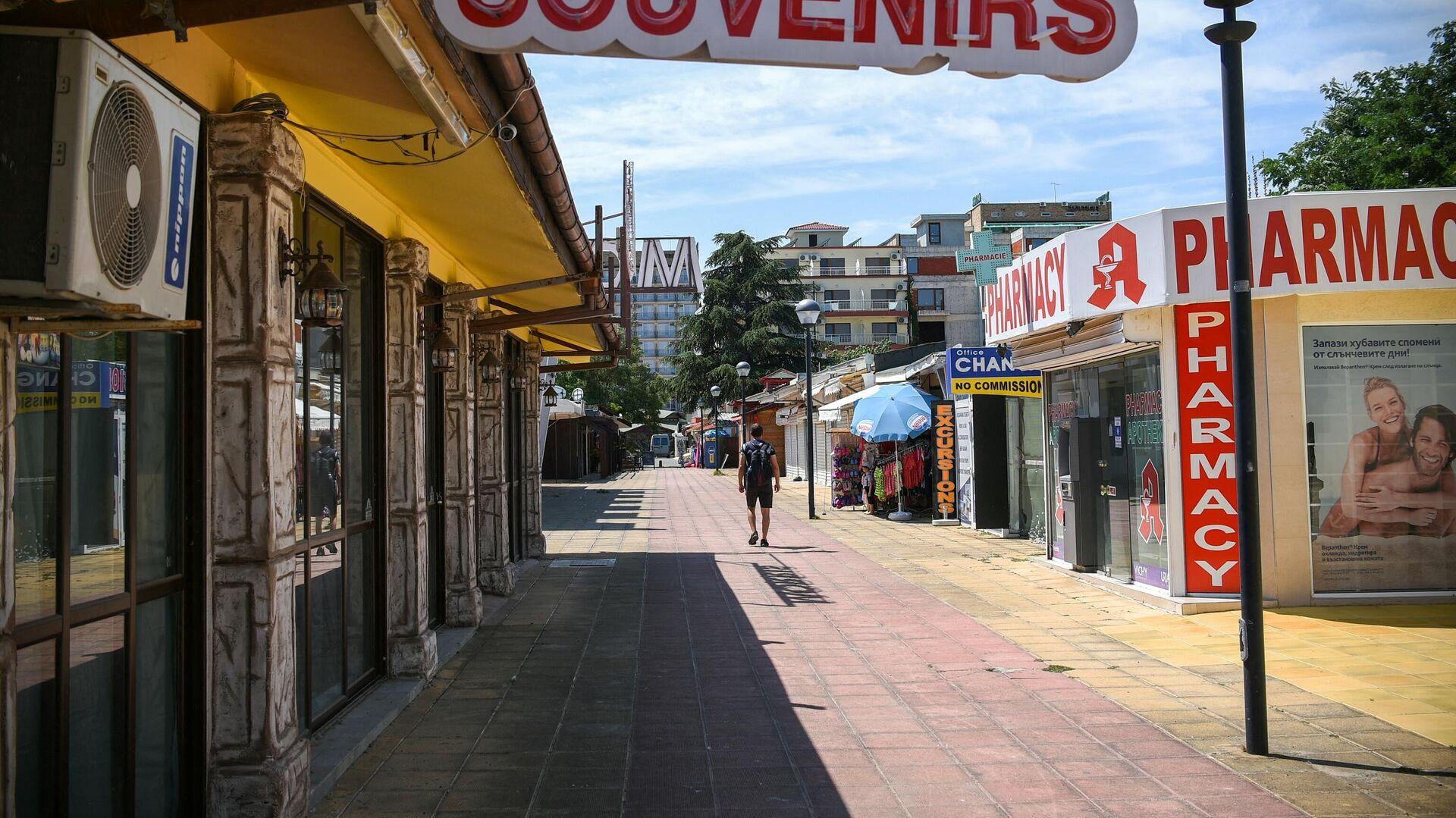 Ulica u najvećem bugarskom odmaralištu na Crnom moru Sunčev breg - Sputnik Srbija, 1920, 07.09.2021