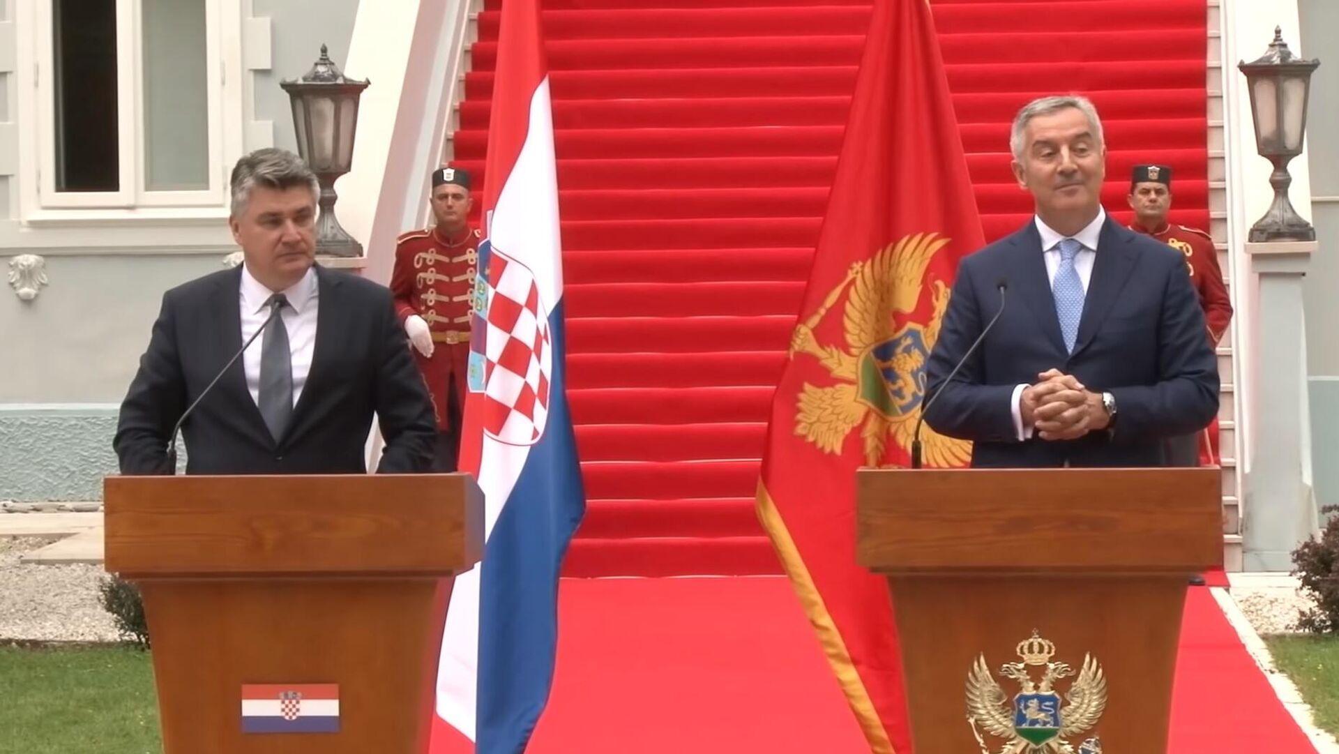Zoran Milanović i Milo Đukanović - Sputnik Srbija, 1920, 08.09.2021
