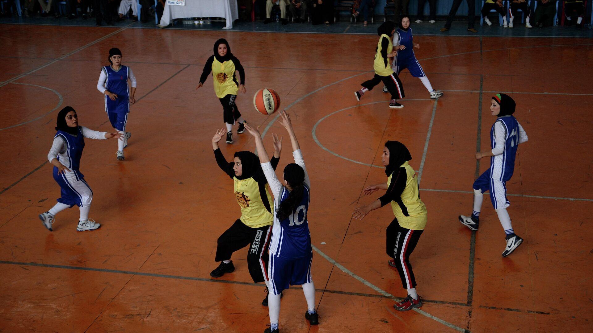 Prijateljska utakmica avganistanskih košarkašica iz Herata i Kabula - Sputnik Srbija, 1920, 08.09.2021