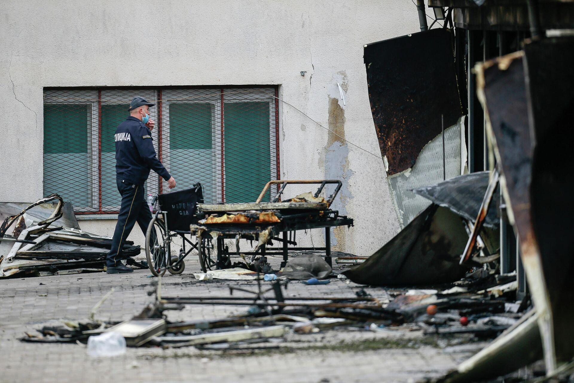 Posledice požara u kovid-bolnici u Tetovu - Sputnik Srbija, 1920, 09.09.2021