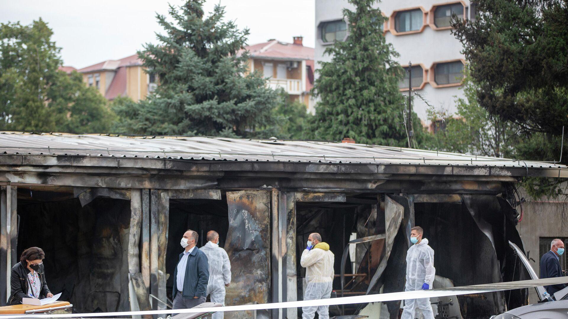 Posledice požara u kovid-bolnici u Tetovu - Sputnik Srbija, 1920, 05.10.2021