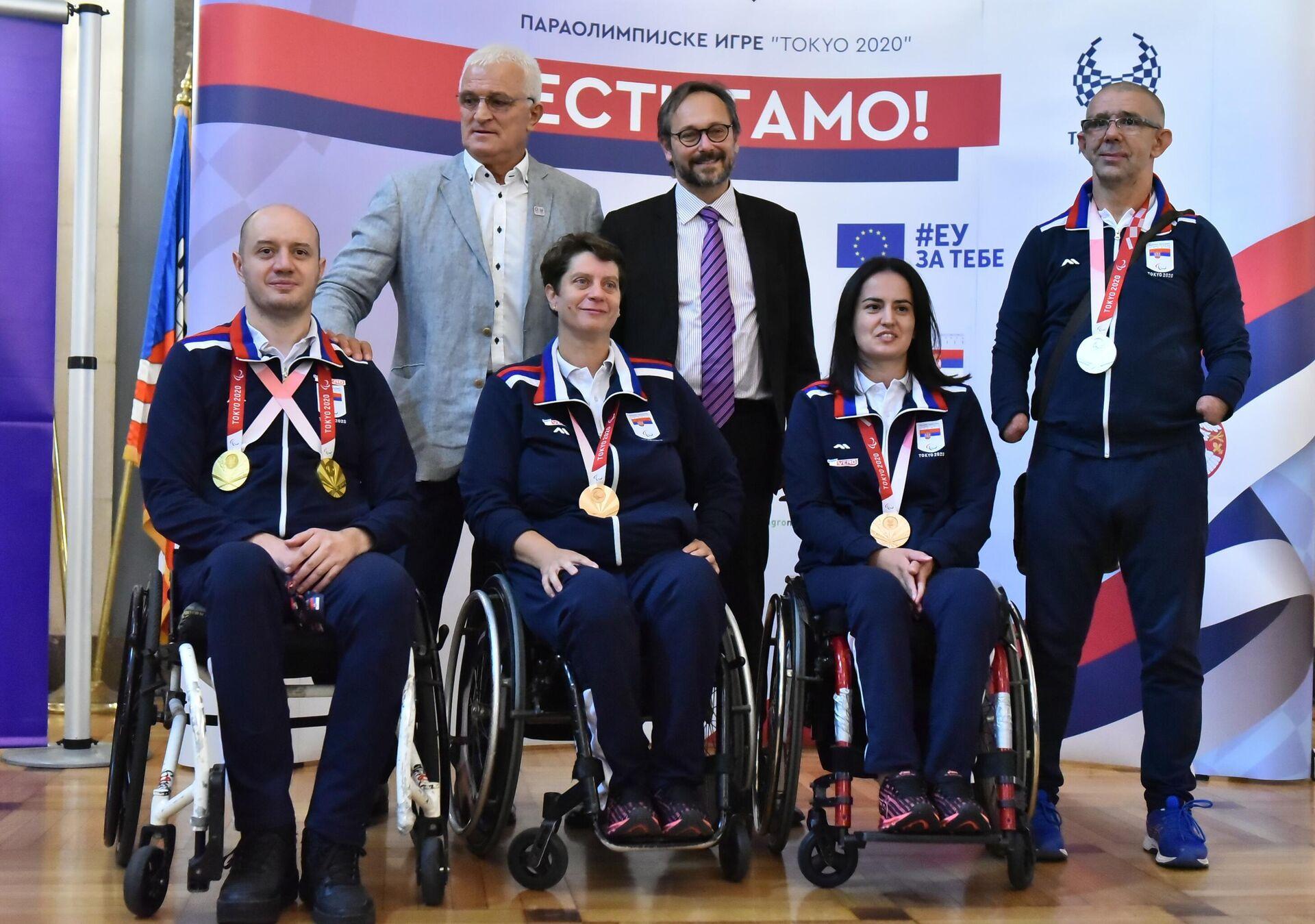 Paraolimpijci svečano dočekani u Skupštini grada - Sputnik Srbija, 1920, 09.09.2021