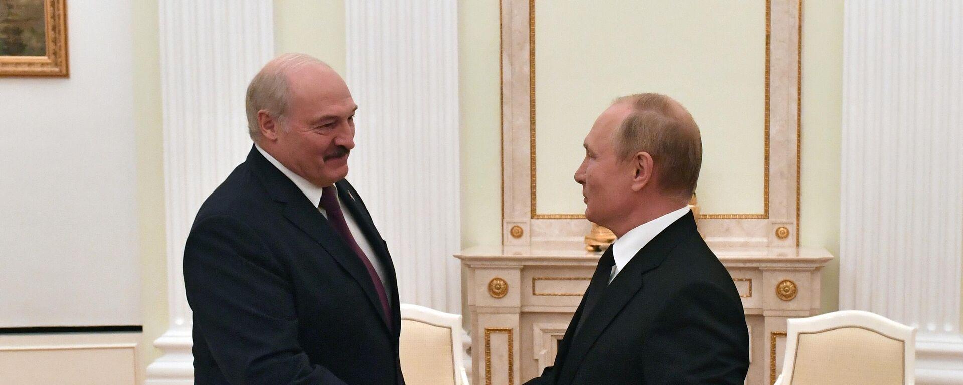Председници Белорусије и Русије, Александар Лукашенко и Владимир Путин - Sputnik Србија, 1920, 09.09.2021