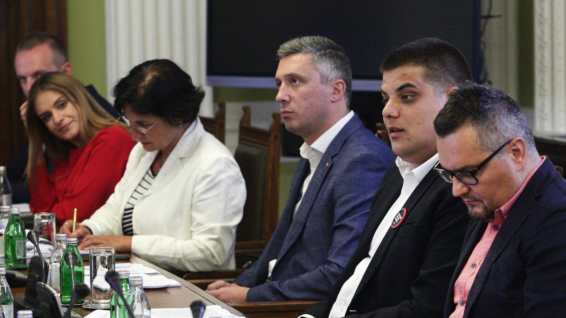 Састанак Радне групе за међустраначки дијалог који се одвија без странаца у Скупштини Србије - Sputnik Србија, 1920, 10.09.2021