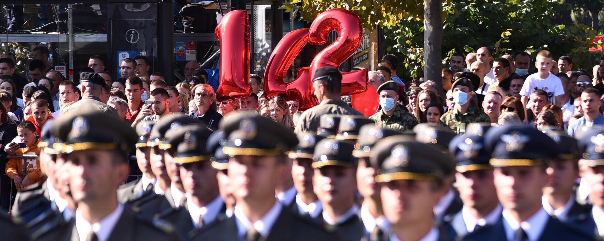 Промоција младих официра испред Скупштине Србије - Sputnik Србија, 1920, 11.09.2021