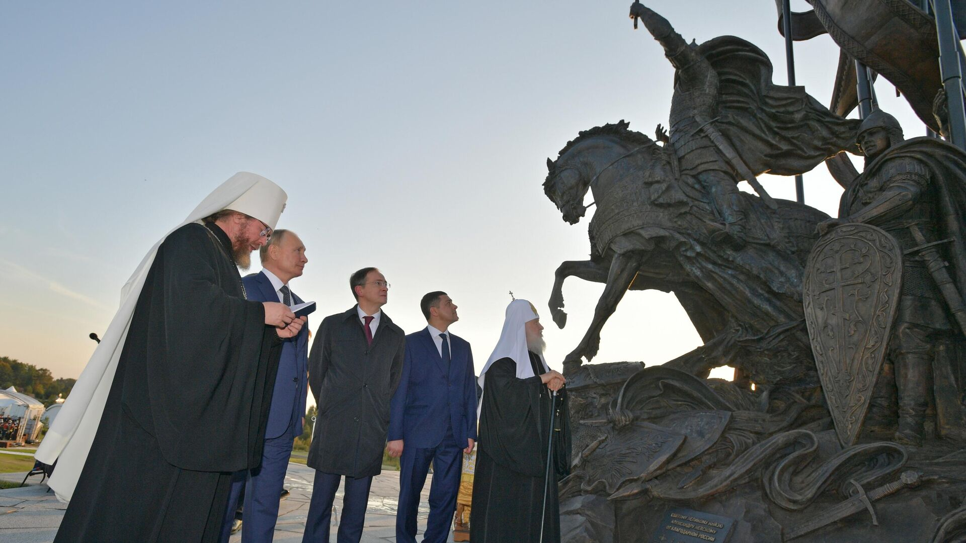 Otvaranje spomenika Aleksandru Nevskom i njegovoj družini na Čudskom jezeru - Sputnik Srbija, 1920, 11.09.2021