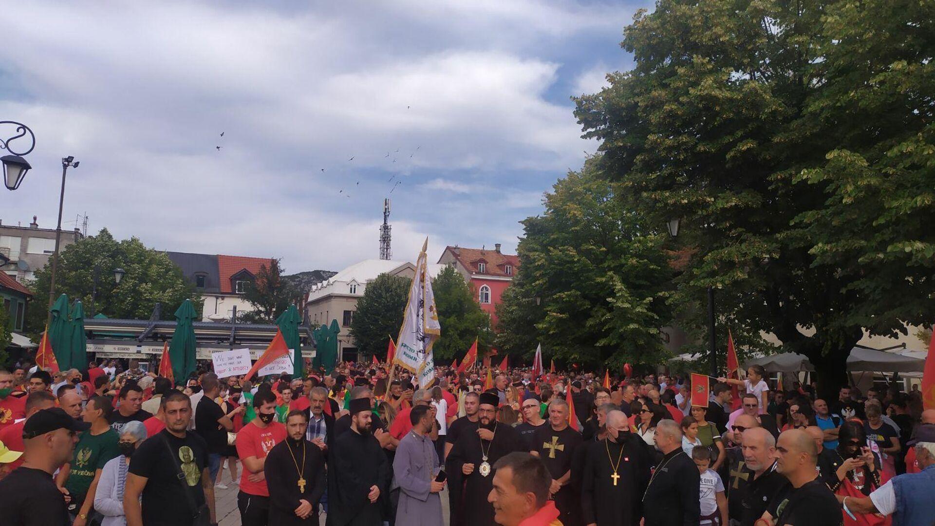 Protest na Cetinju - Sputnik Srbija, 1920, 18.09.2021