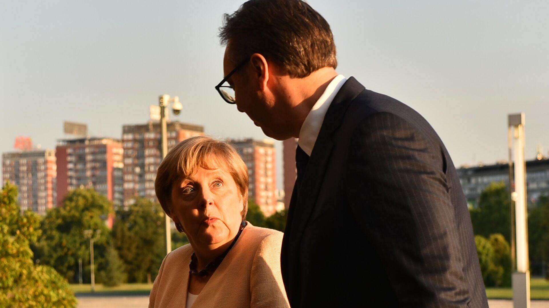 Angela Merkel i Aleksandar Vučić - Sputnik Srbija, 1920, 13.09.2021