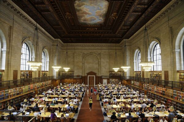 Javna biblioteka u Njujorku, jedna od najvećih u svetu.  - Sputnik Srbija
