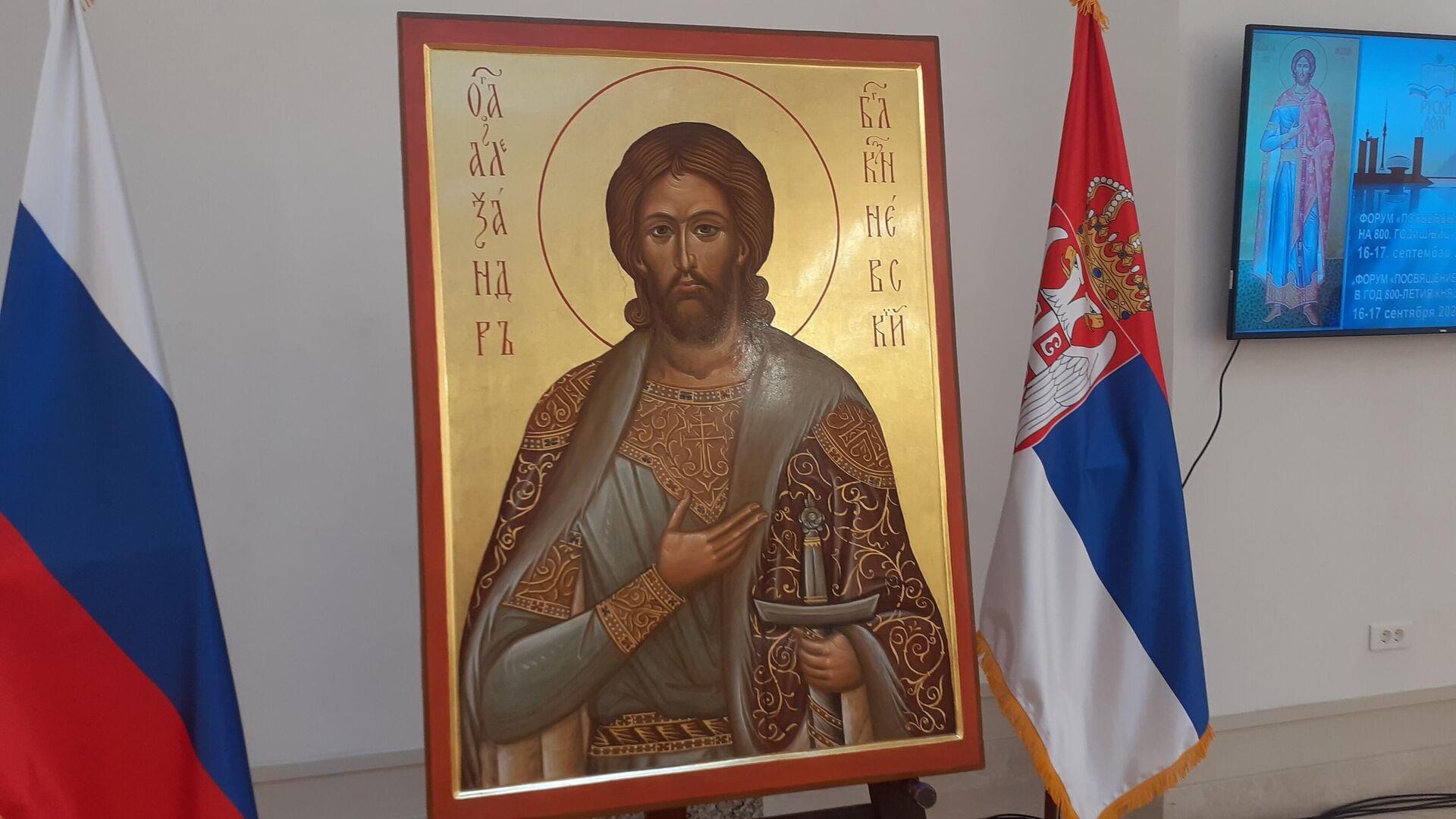 Ikona svetog kneza Aleksandra Nevskog - dar Hramu Aleksandra Nevskog u Banjaluci - Sputnik Srbija, 1920, 16.09.2021
