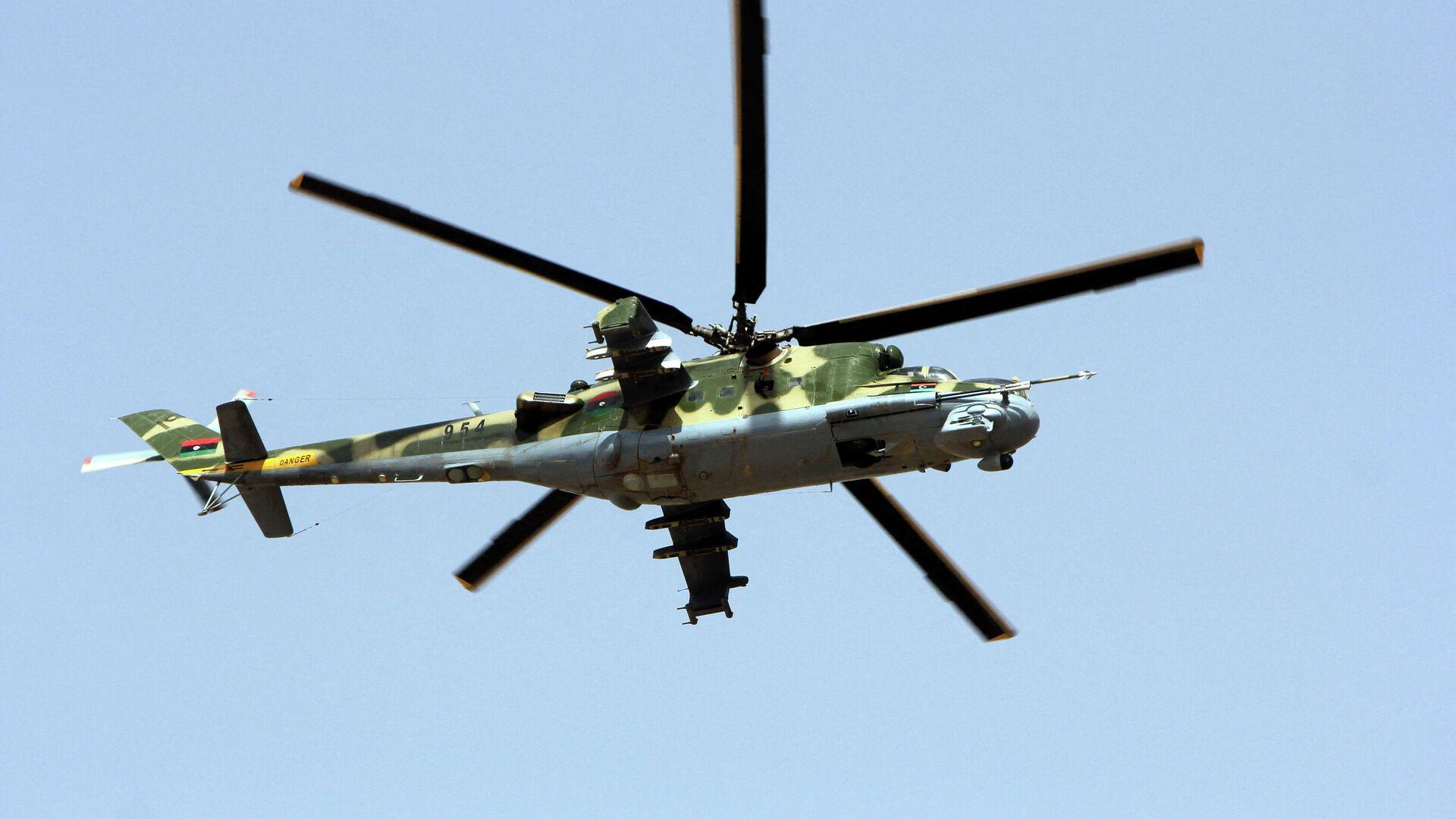 Либијски војни хеликоптер - Sputnik Србија, 1920, 19.09.2021