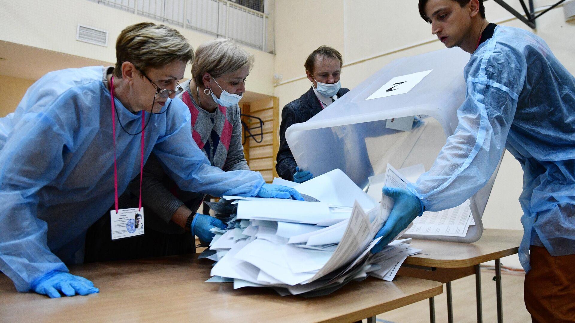 Бројање гласова на изборима у Русији - Sputnik Србија, 1920, 19.09.2021