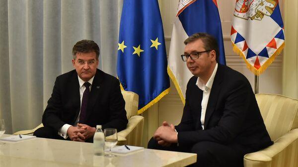 Мирослав Лајчак и Александар Вучић - Sputnik Србија