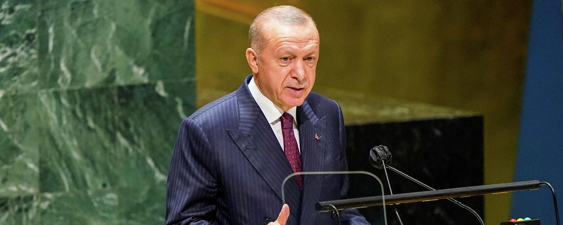 Председник Турске Реџеп Тајип Ердоган - Sputnik Србија, 1920, 21.09.2021