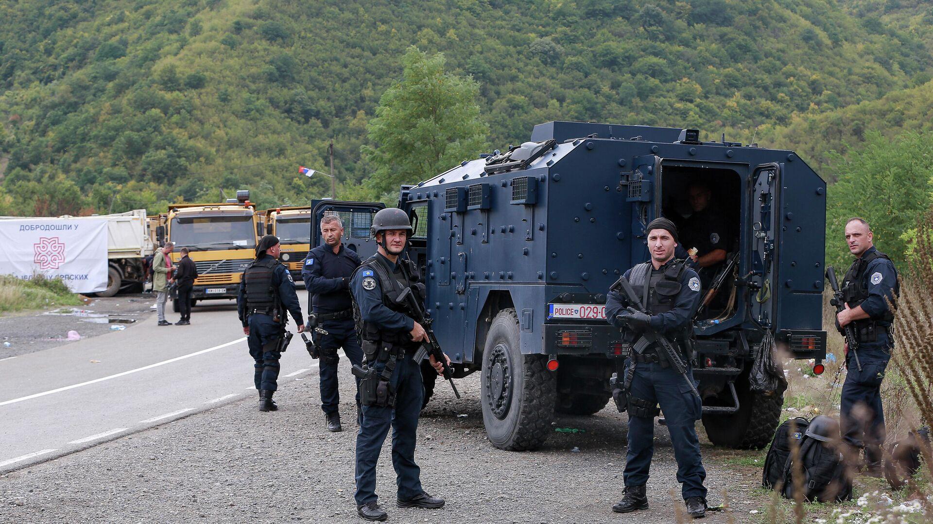 Припадници специјалних полицијских снага РОСУ на северу Косова и Метохије - Sputnik Србија, 1920, 23.09.2021