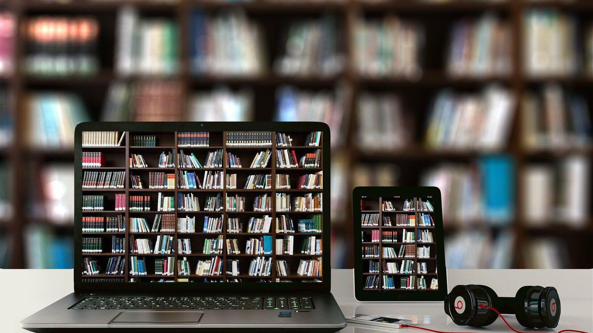 Biblioteka na kompjuteru - Sputnik Srbija, 1920, 23.09.2021