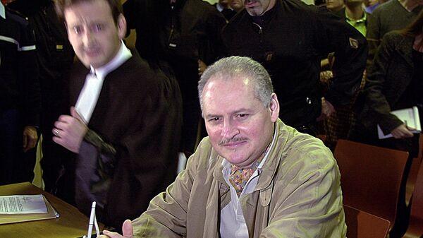 Venezuelan international terrorist Carlos the Jackal whose real name is Ilich Ramirez Sanchez is seated in a Paris courtroom - Sputnik Srbija