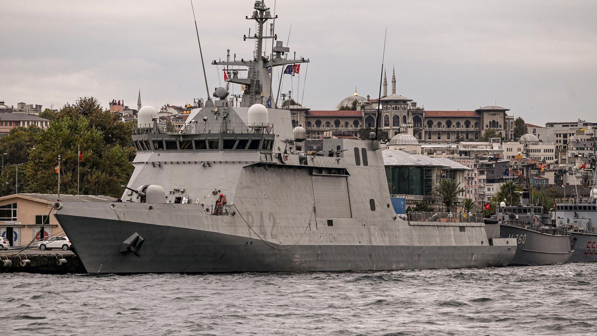 Шпански војни брод Рајо у водама Истанбула - Sputnik Србија, 1920, 23.09.2021