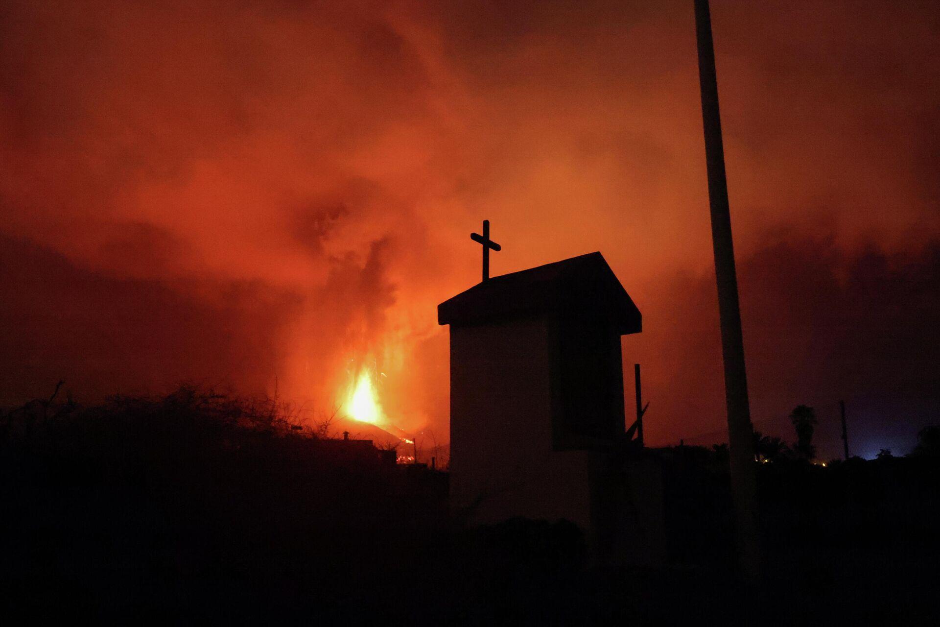 Lava nakon erupcije vulkana u Los Ljanos de Arijdane, na Kanarskom ostrvu La Palma - Sputnik Srbija, 1920, 24.09.2021