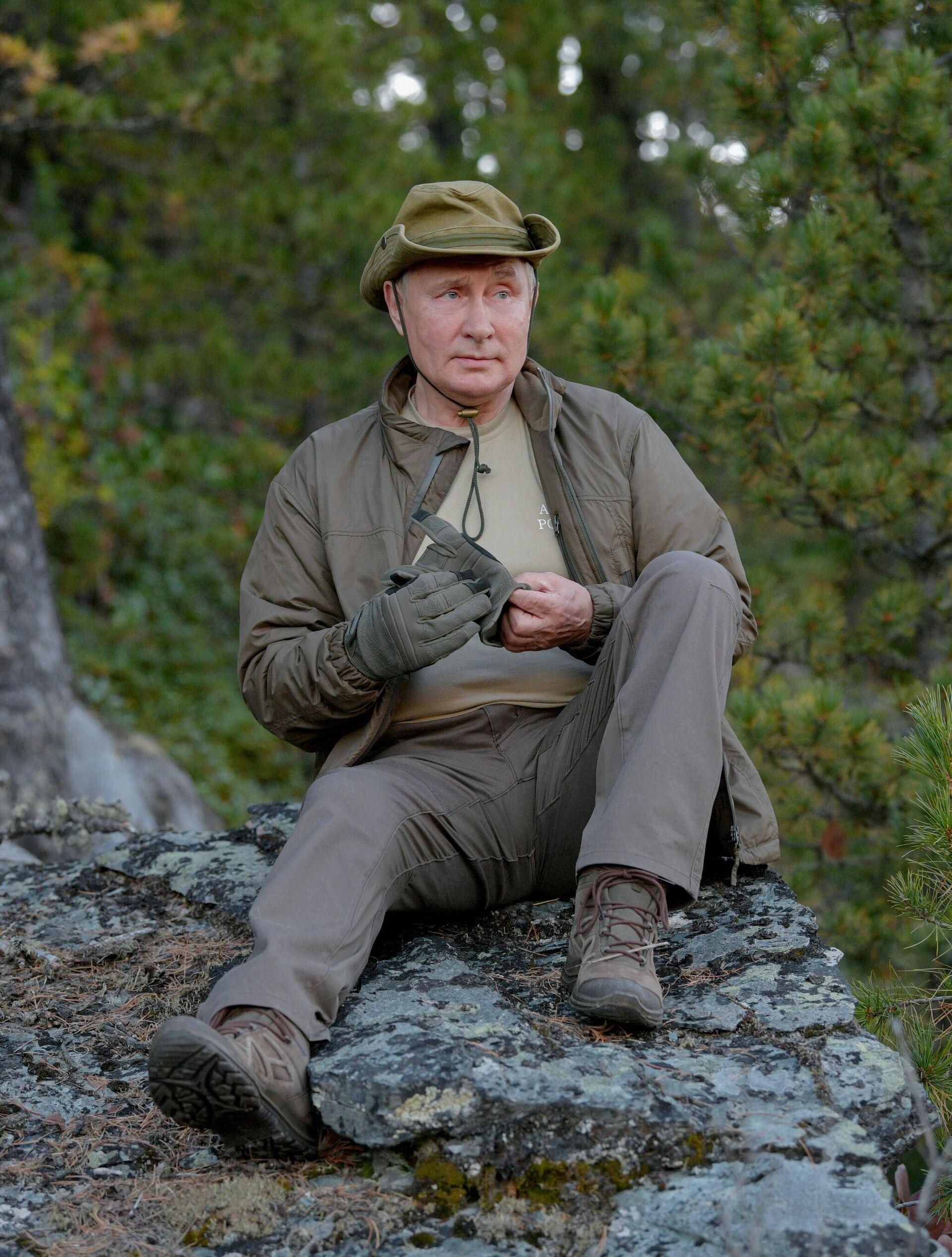 Predsednik Rusije Vladimir Putin na odmoru u Sibiru - Sputnik Srbija, 1920, 26.09.2021