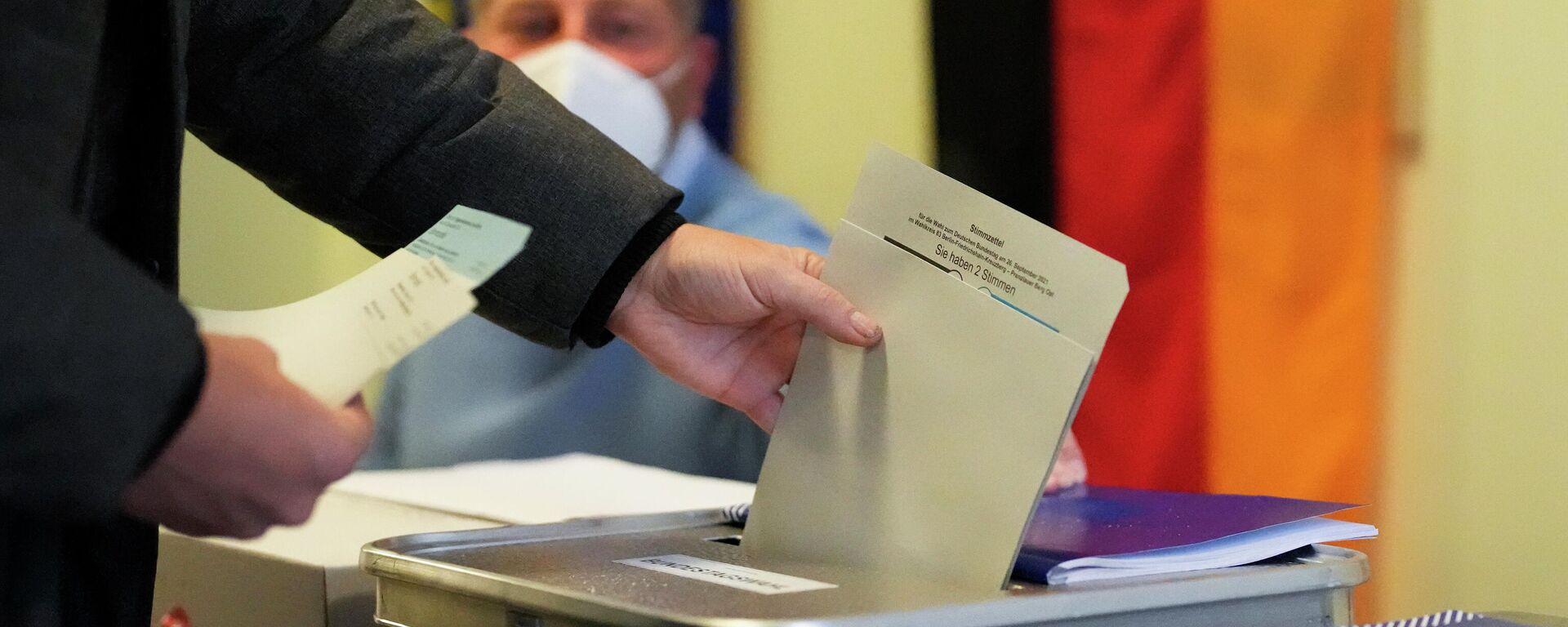 Glasanje na izborima za nemački Bundestag - Sputnik Srbija, 1920, 27.09.2021
