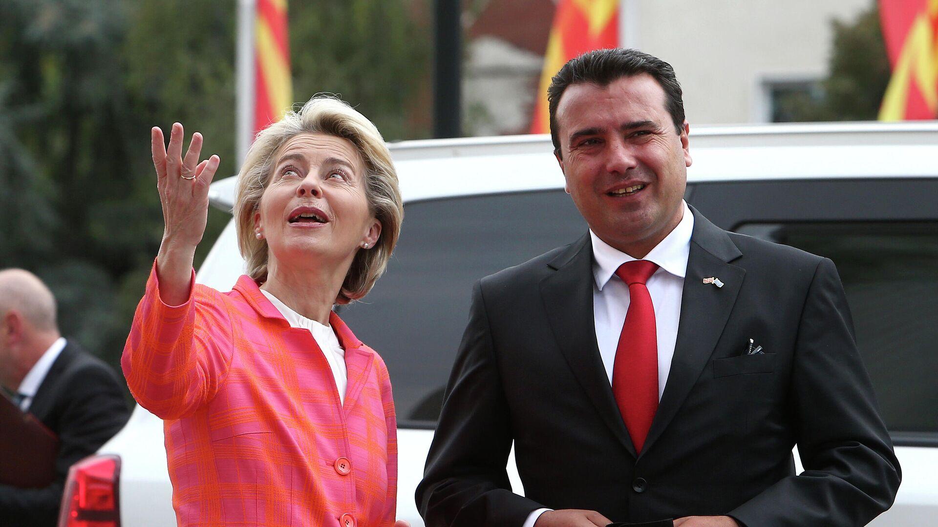 Ursula fon der Lajen i Zoran Zaev - Sputnik Srbija, 1920, 28.09.2021