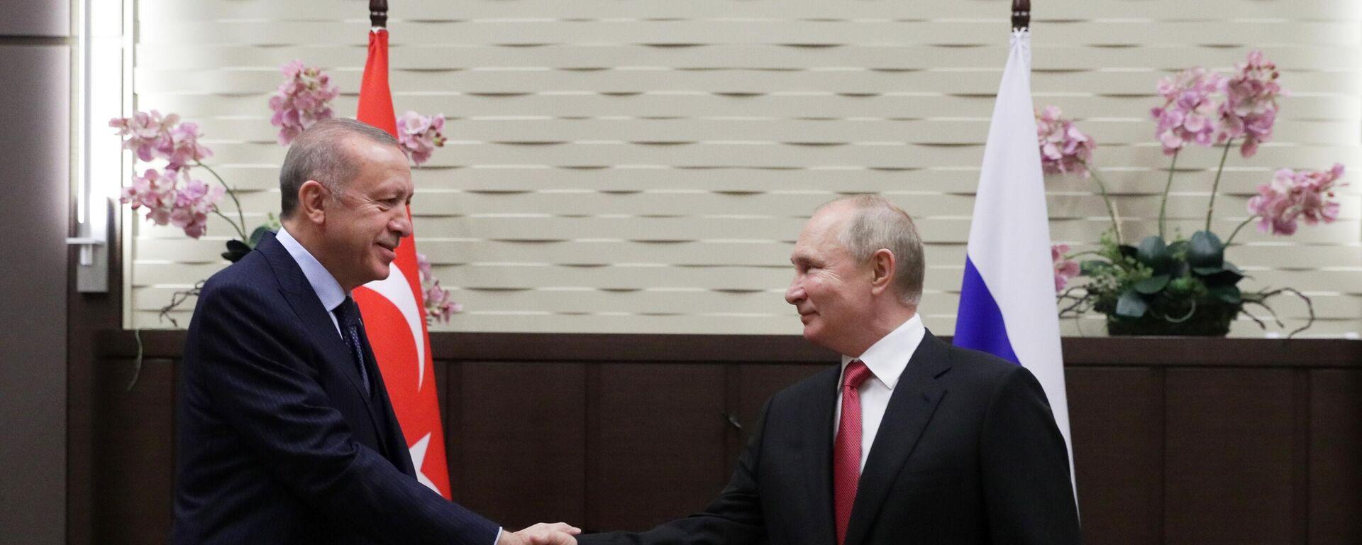 """""""Odnosi Rusije i Turske se pozitivno razvijaju"""": Počeo sastanak Putina i Erdogana u Sočiju - Sputnik Srbija, 1920, 29.09.2021"""