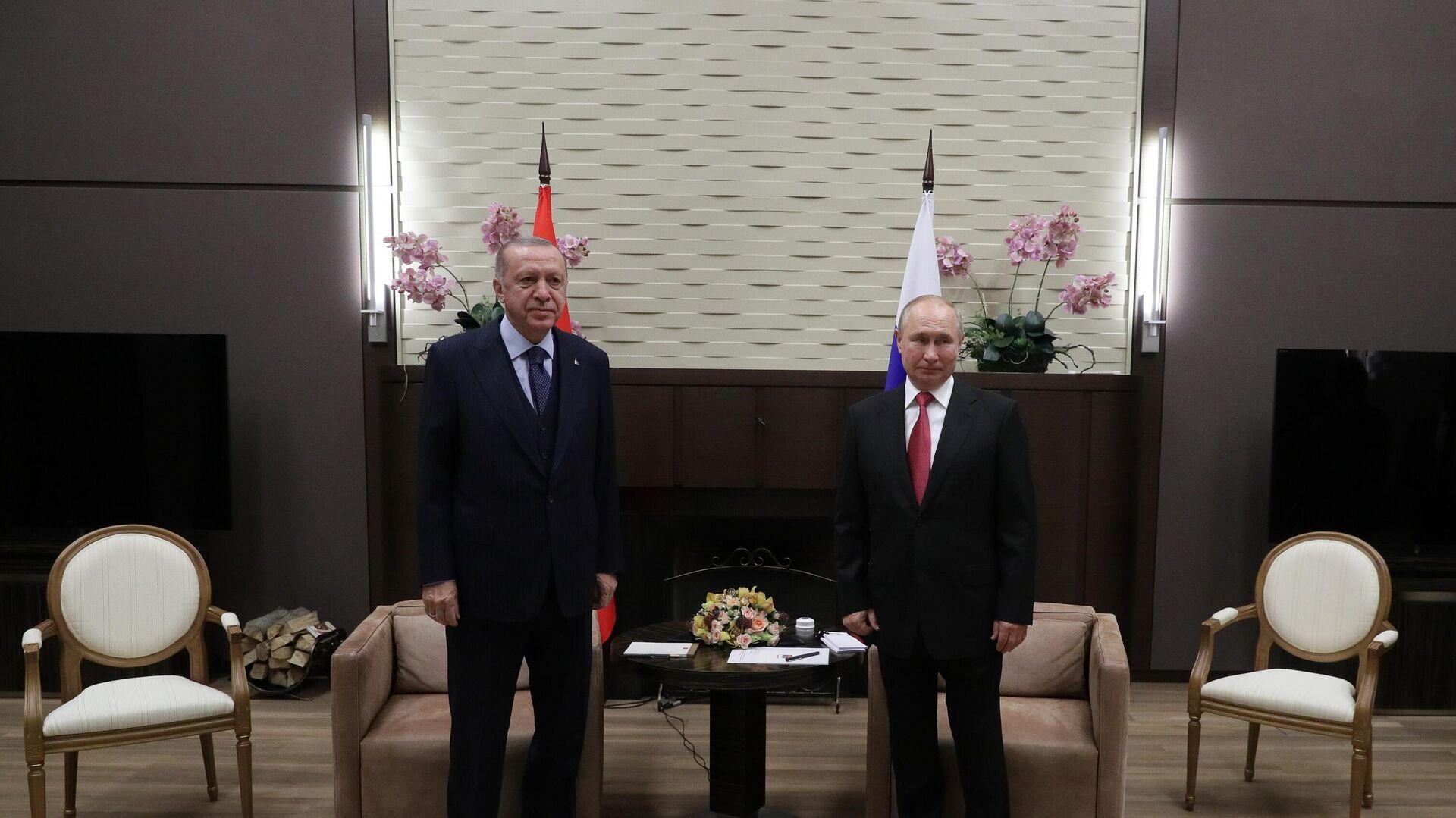 Predsednici Rusije i Turske, Vladimir Putin i Redžep Tajip Erdogan - Sputnik Srbija, 1920, 30.09.2021
