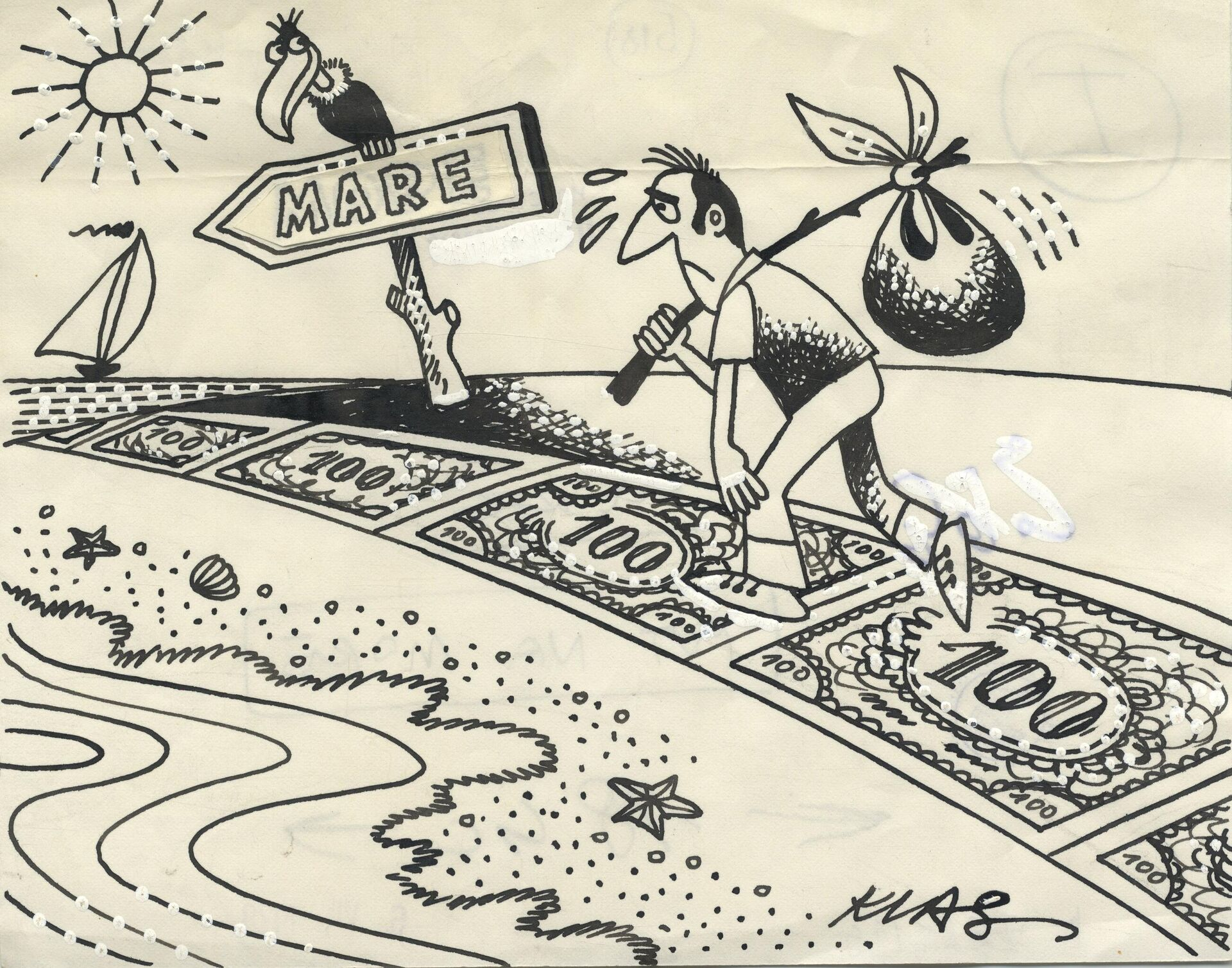 Александар Клас - Карикатура (Илустрована политика) - Sputnik Србија, 1920, 07.10.2021