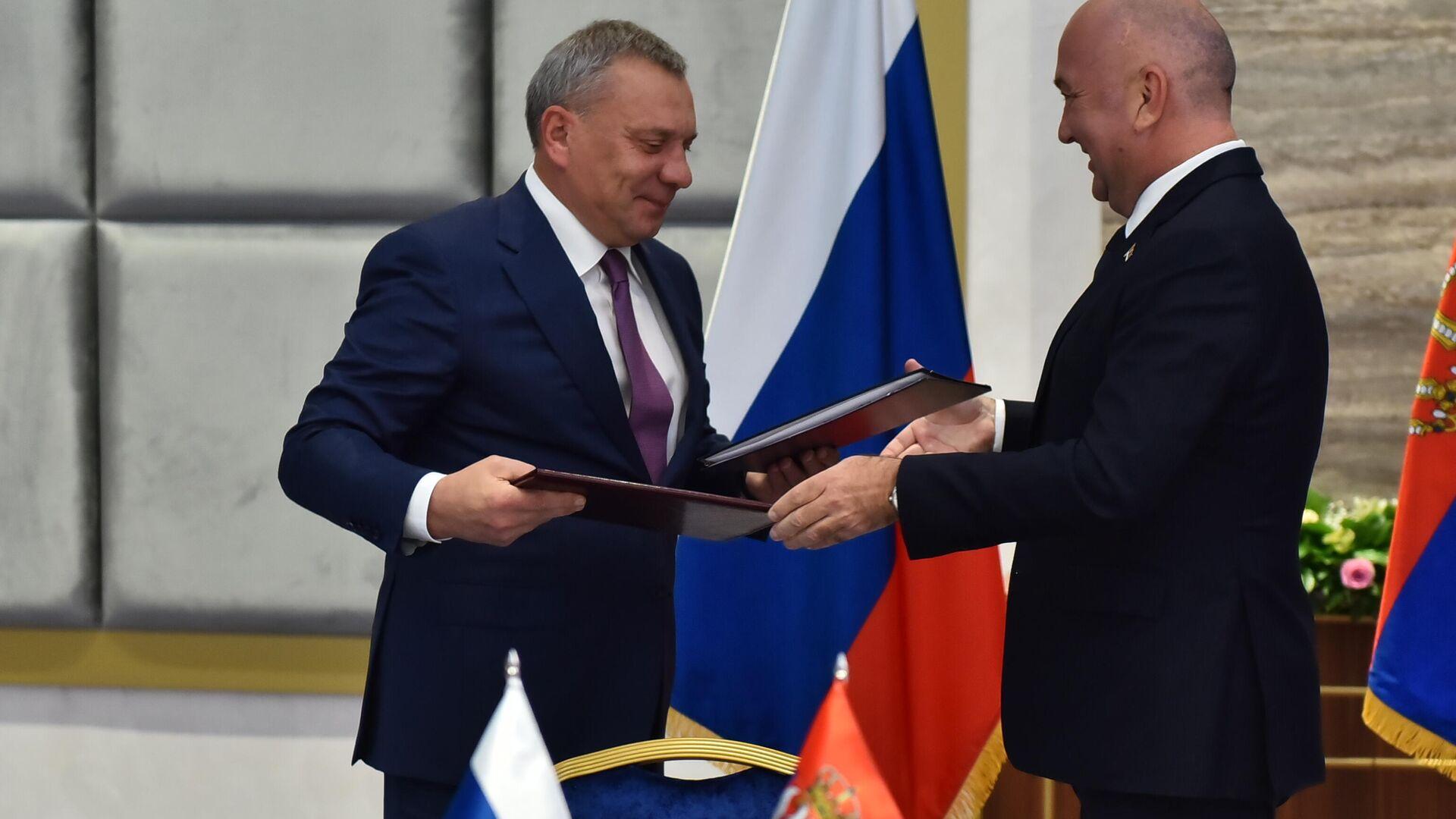 Потписивање уговора о испоруци гаса из Русије у Србију - Sputnik Србија, 1920, 07.10.2021