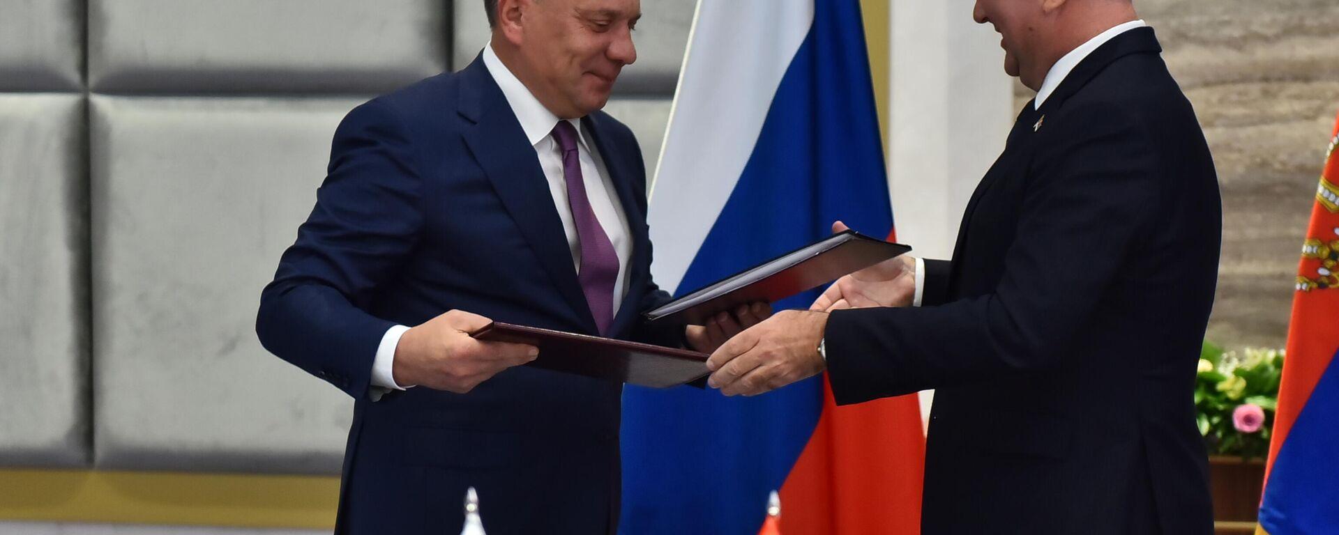 Potpisivanje ugovora o isporuci gasa iz Rusije u Srbiju - Sputnik Srbija, 1920, 07.10.2021