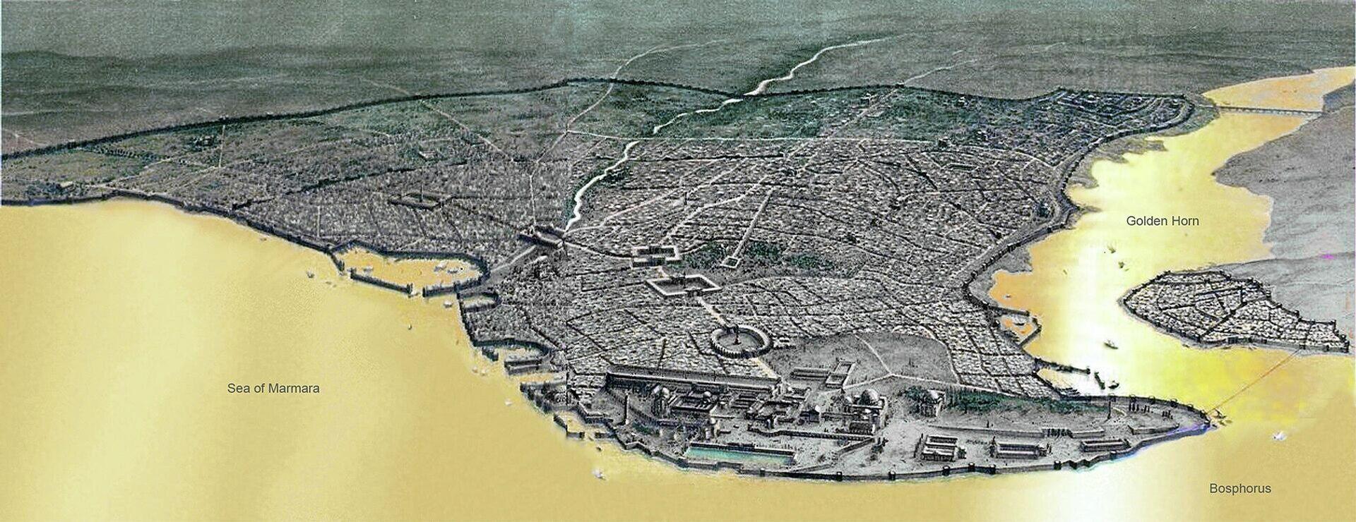 Konstantinopolj u vreme Vizantije, car Dušan bio je njime fasciniran, Grad mu je verovatno bio i cilj - Sputnik Srbija, 1920, 08.10.2021