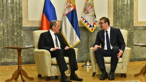 Sastanak Sergeja Lavrova i Aleksandra Vučića u Beogradu - Sputnik Srbija