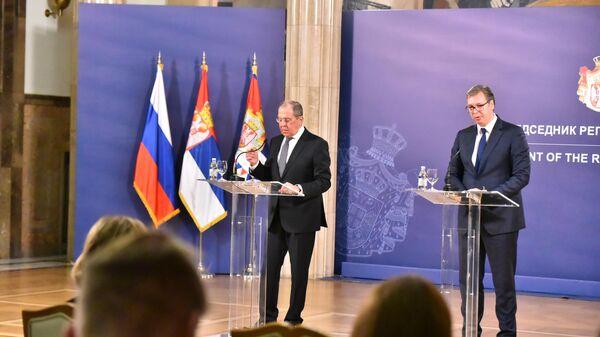 Sergej Lavrov i Aleksandar Vučić - Sputnik Srbija