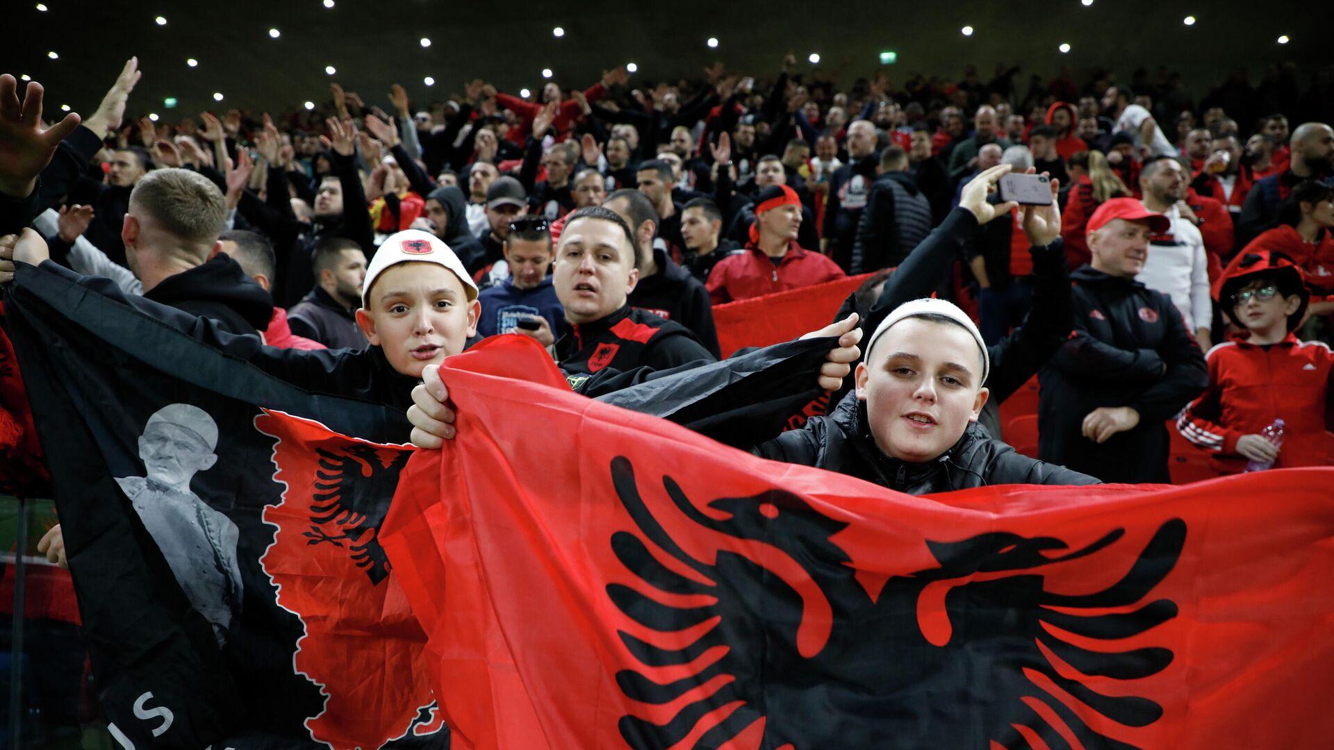 Navijači Albanije tokom utakmice protiv Poljske - Sputnik Srbija, 1920, 13.10.2021