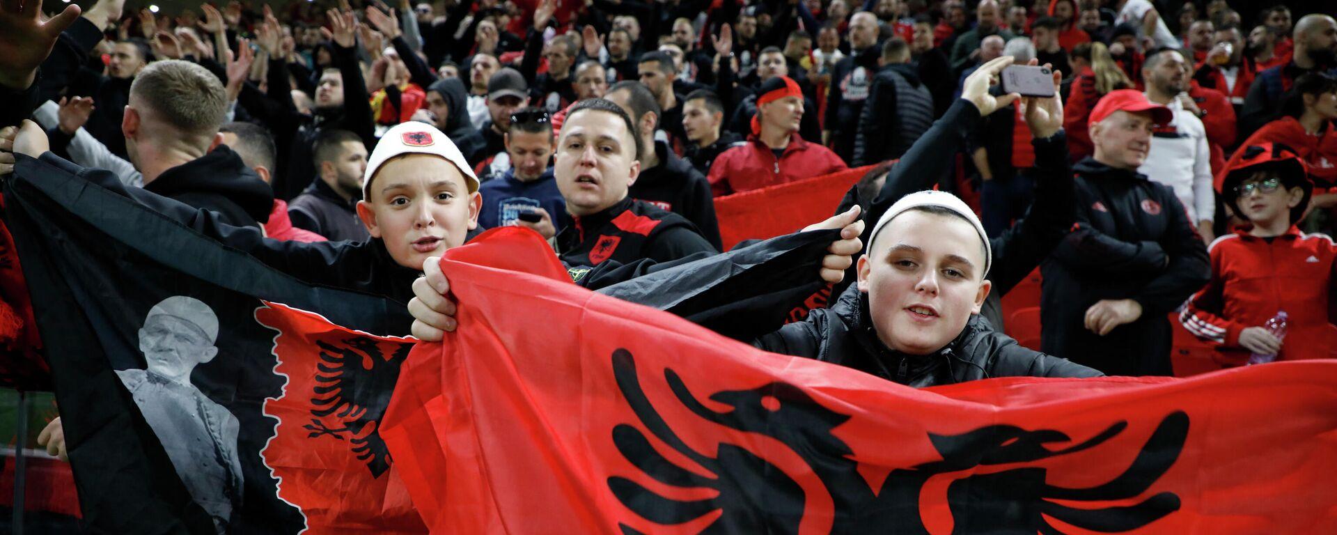 Навијачи Албаније током утакмице против Пољске - Sputnik Србија, 1920, 13.10.2021