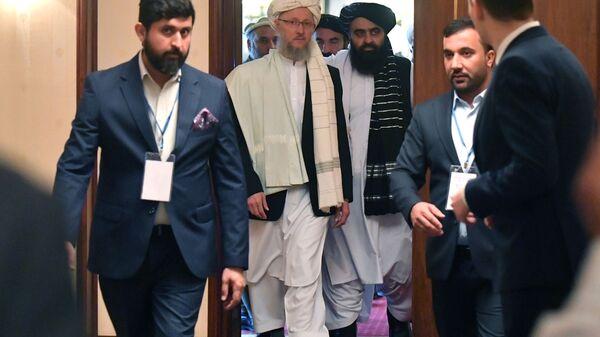 Представитель движения Талибан* Абдул Салам Ханафи после третьего заседания московского формата консультаций по Афганистану - Sputnik Србија